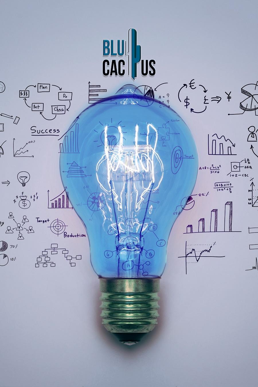 Blue Cactus - Oneline Marketing Bureau - Blauwe lamp