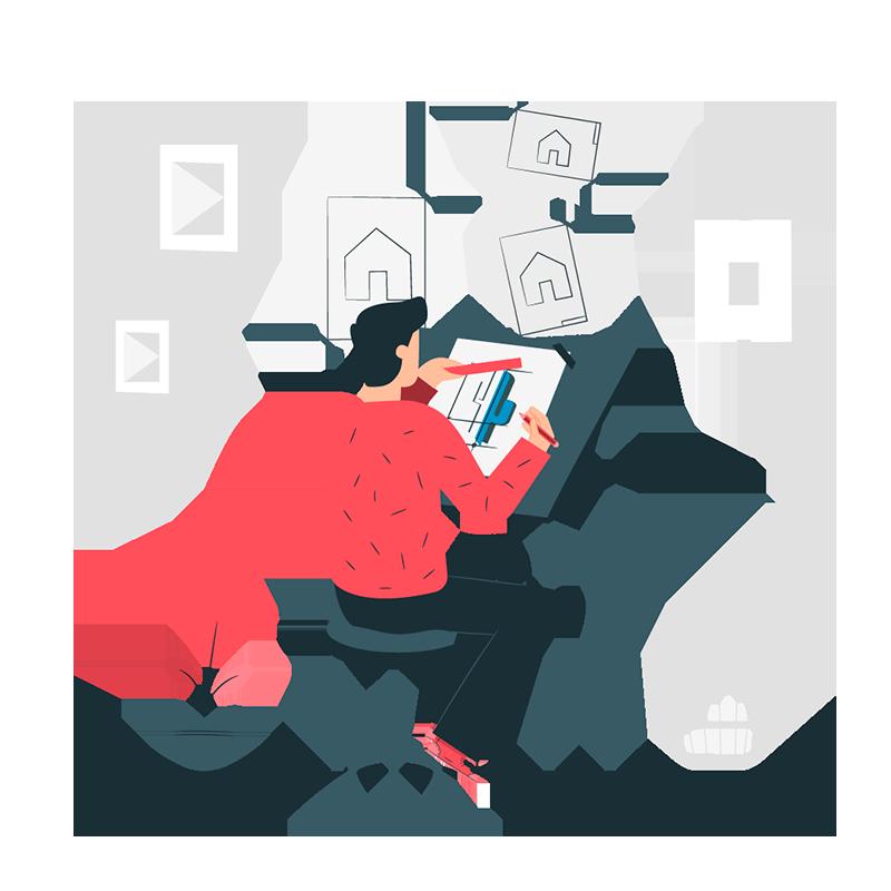 BluCactus - Professioneel logo laten maken - Ontwerper aan het werk