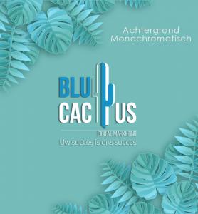 Blucactus-Achtergrond-Monochromatisch