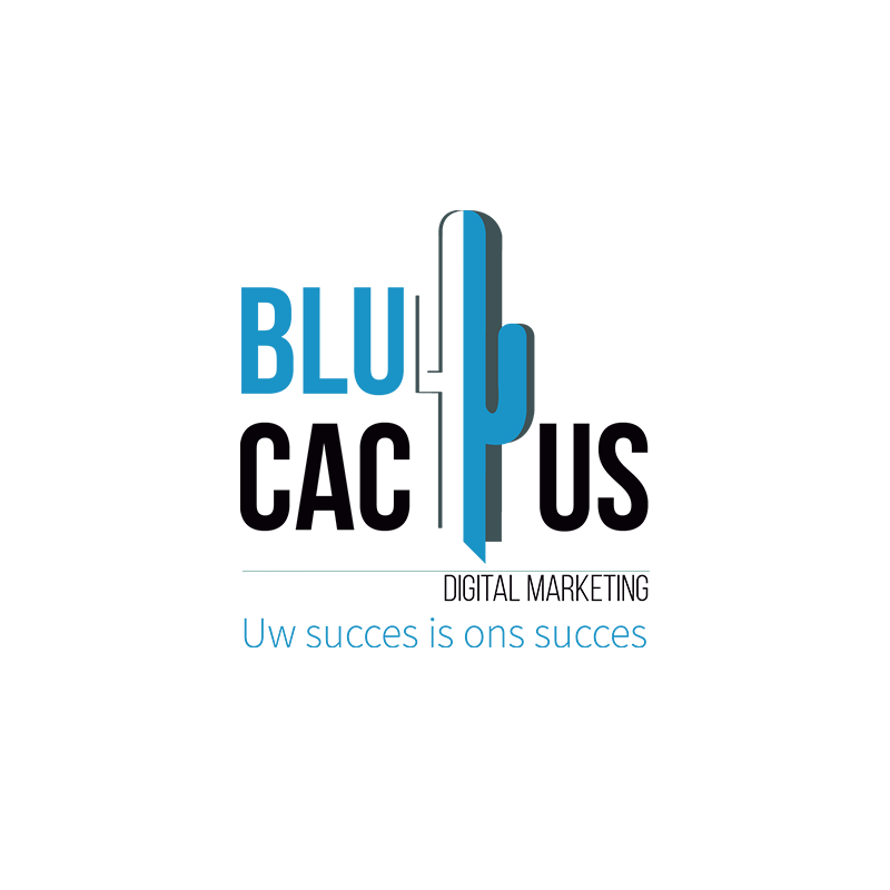 Blue Cactus - Oneline Marketing Bureau - Gloeiend Logo