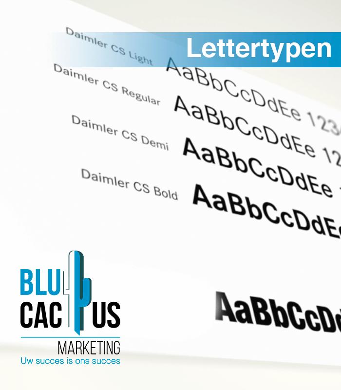BluCactus - Lettertypen