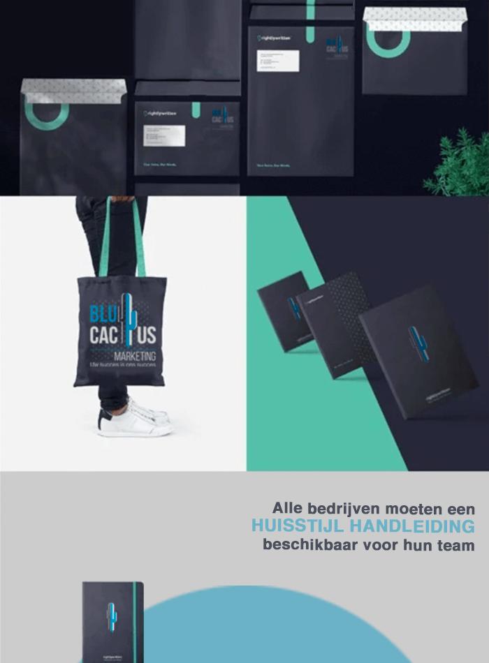 BluCactus - Huisstijl voorbeeld - vrouw met een BluCactus tas
