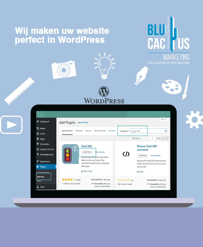 BluCactus - mij maken je website perfect in WordPress