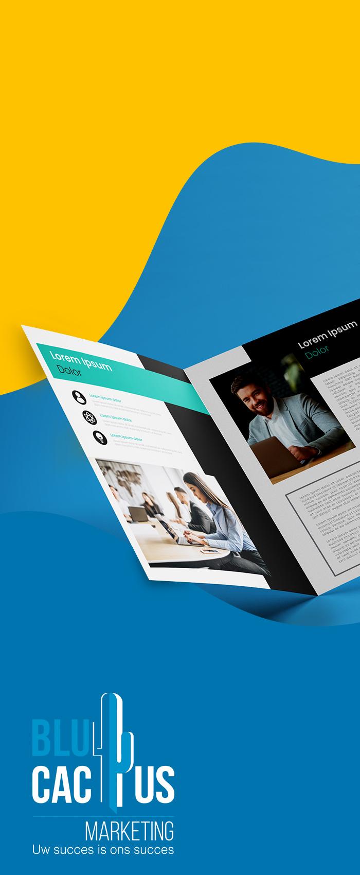 BluCactus Brochure ontwerp Er zijn brochures van vele soorten plannen