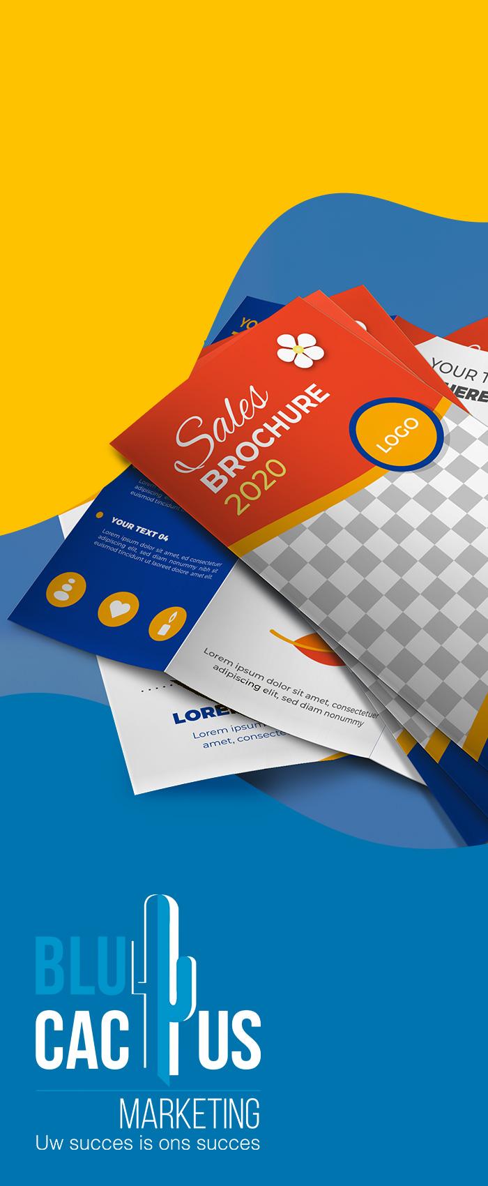 BluCactus Brochure ontwerp Het meest populaire brochureontwerp is de triptiek of drieluik. Nu bedrijfsbrochure laten maken