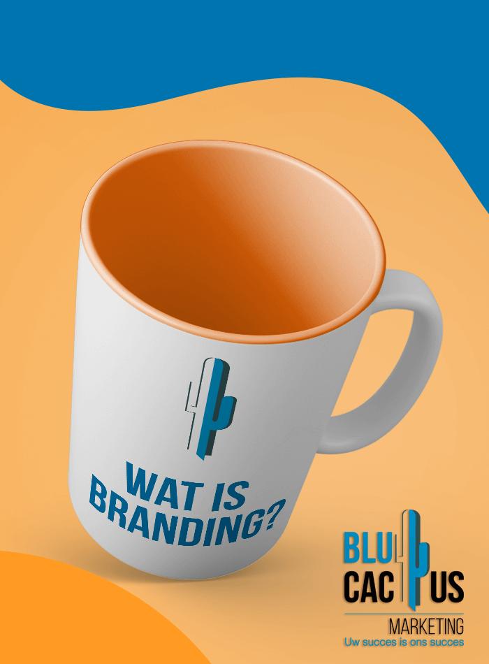 BluCactus - Branding Bureau - kopje koffie met BluCactus Logo