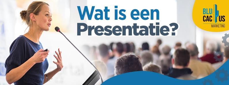 BluCactus - Wat is een presentatie? Vrouw aan het presenteeren