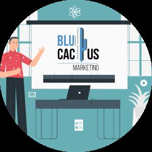Blucactus - Wat is een Presentatie?. - gebruik aangepaste dias