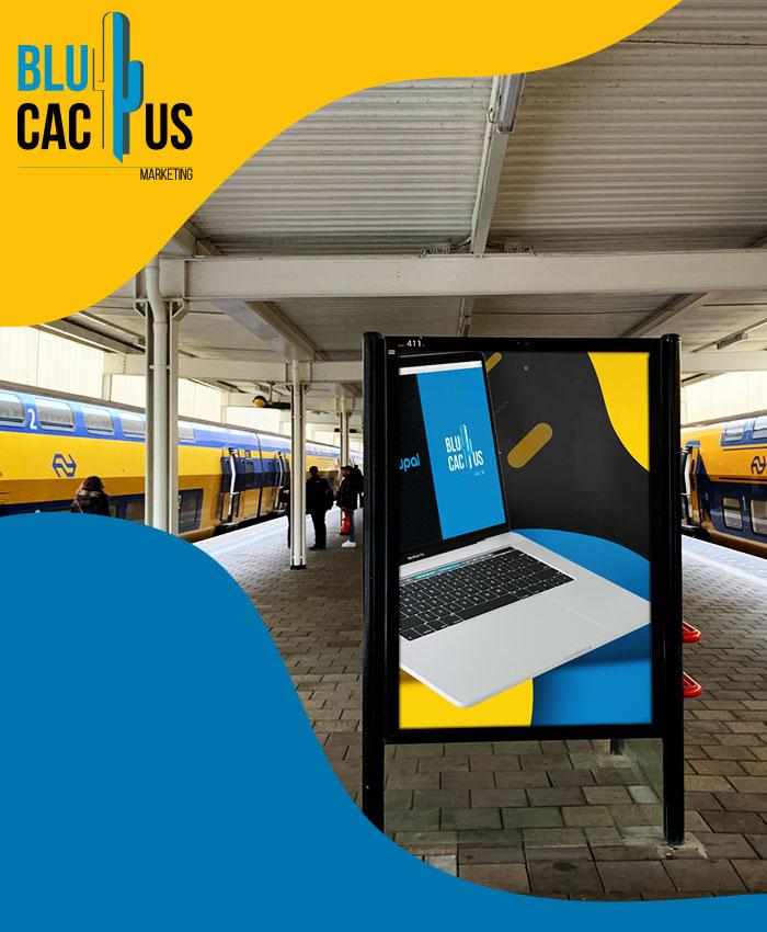 BluCactus Buitenreclame op de trein