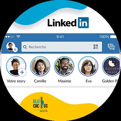 Blucactus-LinkedIn Stories-Deel-inhoud-met-opinieleiders-in-uw-gemeenschap