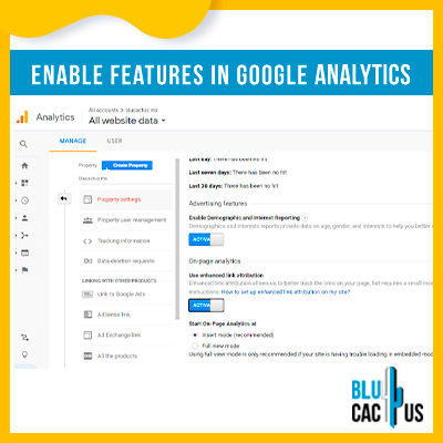 Blucactus-Google Analytics opzetten -schakelt-functies-in-Google-Analytics-in