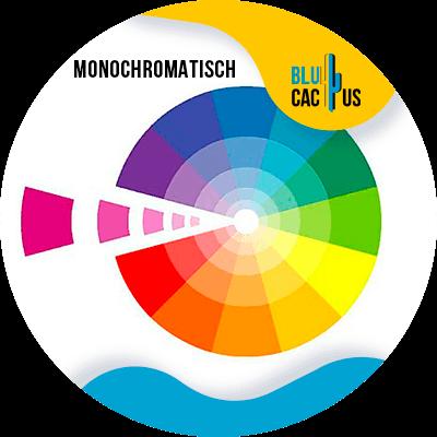 Blucactus-Monochromatisch