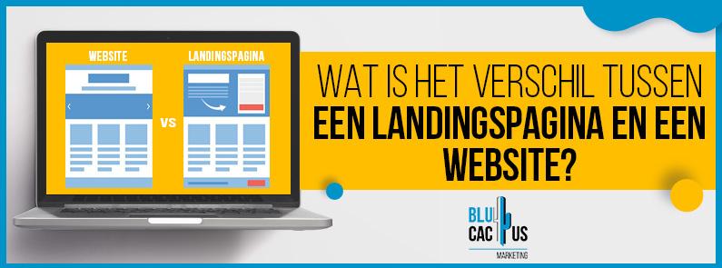 BluCactus - Wat is het verschil tussen een landingspagina en een website? - TITLE