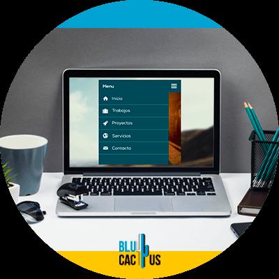 Blucactus- Wat is het verschil tussen een landingspagina en een website? -navigatie-menu