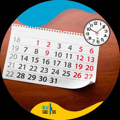 Blucactus-datum-tijd