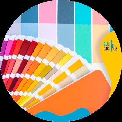 Blucactus-kleurenpalet- wat een huisstijlpakket -