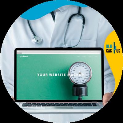 Blucactus-- marketingstrategieën voor artsen -Create-a-website